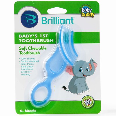 Baby Buddy First Silicone Toothbrush.