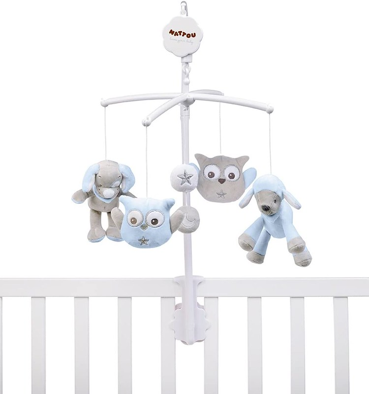 Nattou Sam And Toby Musical Baby Mobile