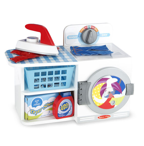 Melissa And Doug Wooden Wash, Dry And Iron Play Set