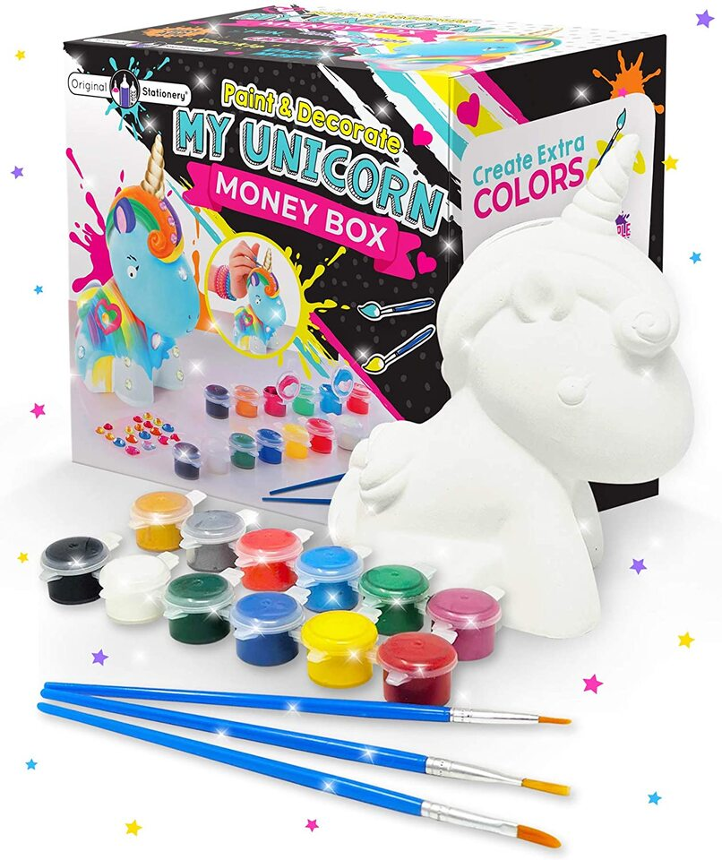 Original Stationery Decorate And Paint Your Own Unicorn Money Box