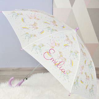 DCARO Personalised Unicorn Kids Umbrella.