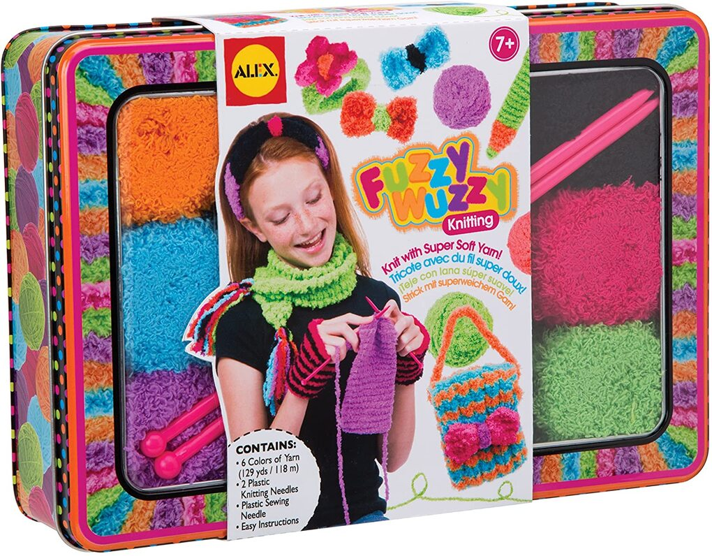 Fuzzy Wuzzy Knitting Kit By Alex Toys