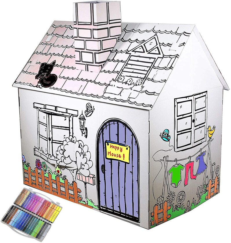 Colour In Cardboard Shop Playhouse