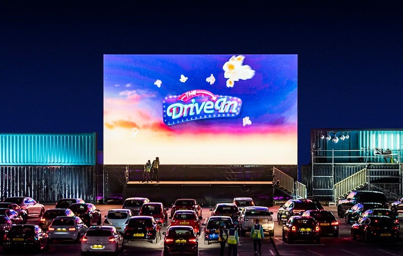 Enjoy a festive movie at The Drive-In cinema.