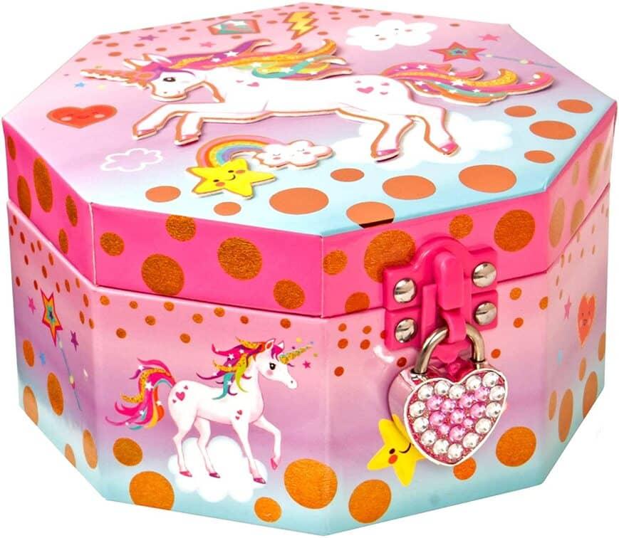 Style Girlz Unicorn Musical Jewellery Box & Heart Lock