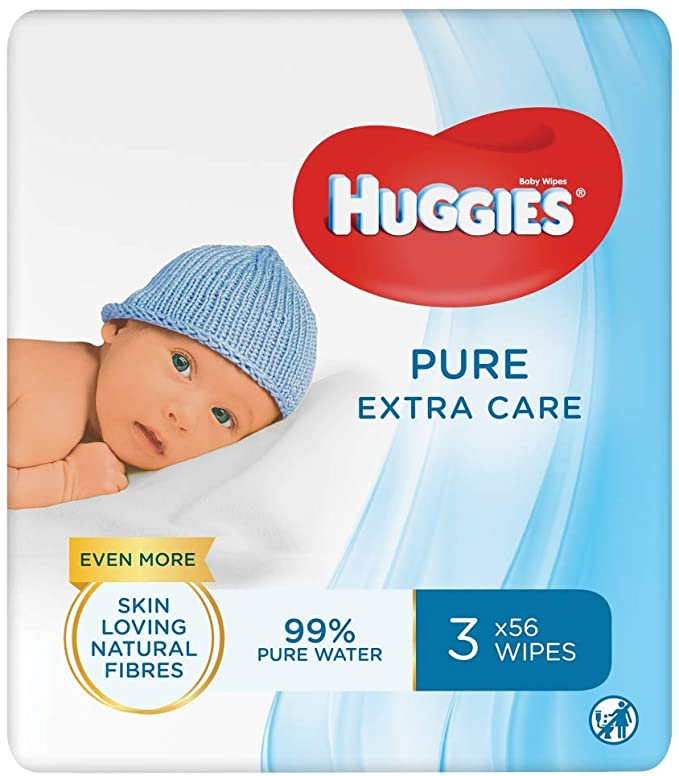 Huggies Pure Extra Care Wipes.