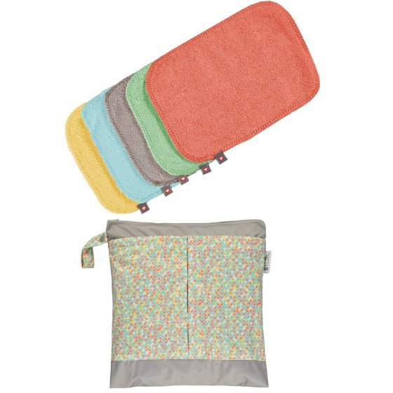 Babipur Close Pop-In Reusable Bamboo Wipes.
