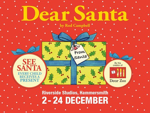 A wrapped present on the promotional poster of the Dear Santa show.