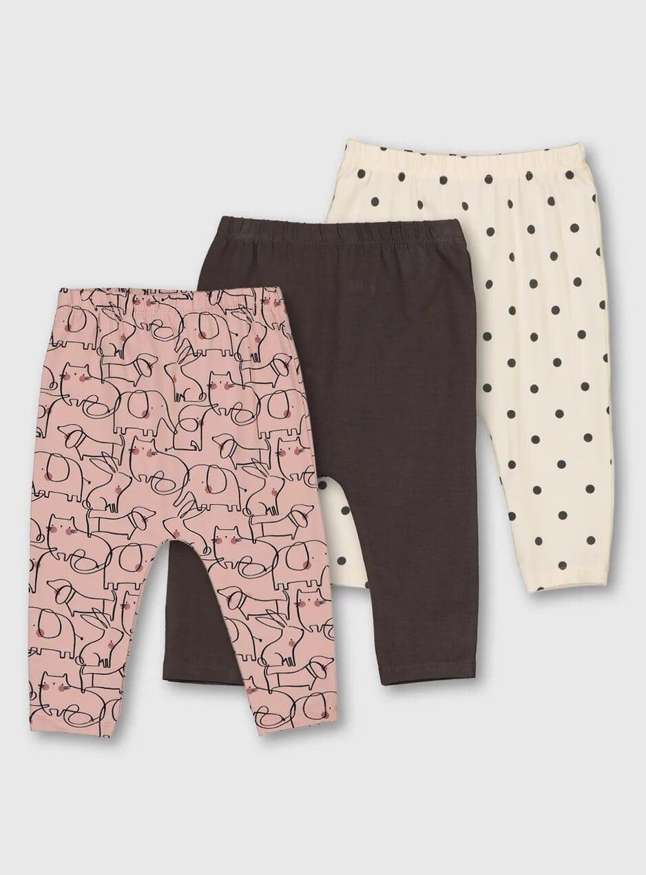 Tu Animal Print Doodle Leggings 3-Pack.