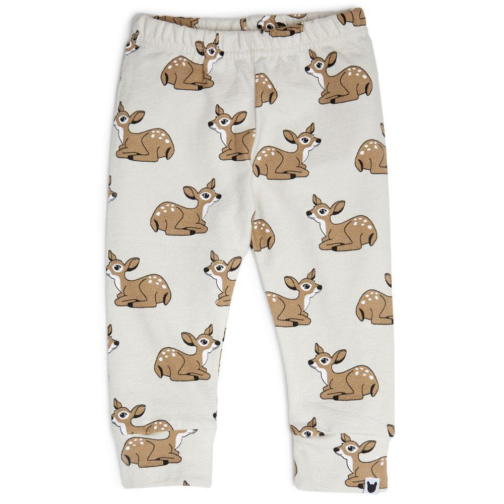 Tobias and the Bear Fawn Terry Leggings.
