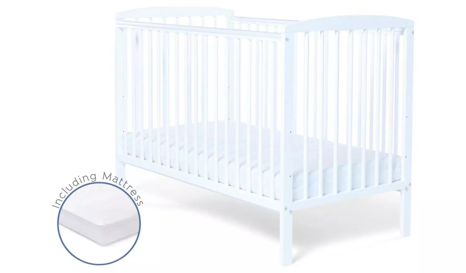 Baby Elegance Starlight Baby Cot With Mattress.