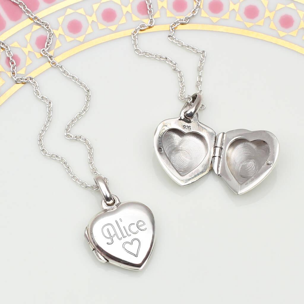 Hurley Burley Junior Petite Personalised Sterling Silver Girl's Locket