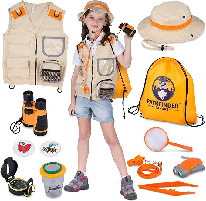 Kids Explorer Kit With Safari Vest & Hat.