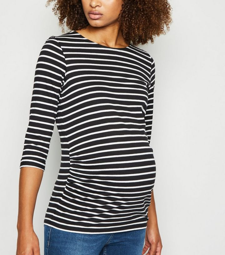 New Look Maternity Striped T-Shirt