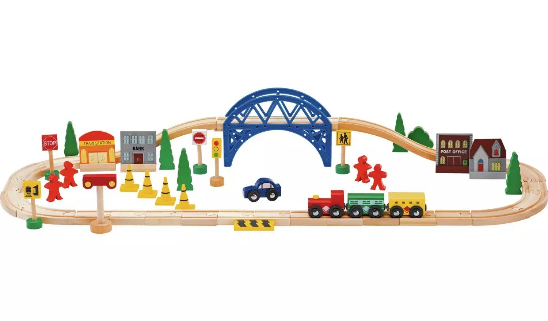 Chad Valley Wooden Train Set.