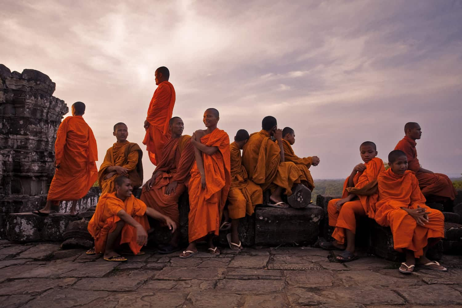 Monks devote their life to religion and spirituality