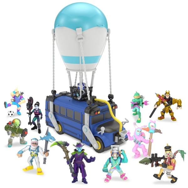 Fortnite Battle Royale Collection Battle Bus Deluxe Edition With 10 Figures.
