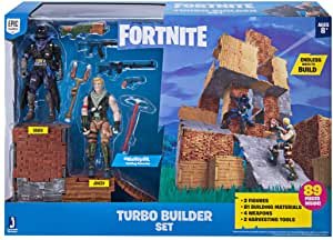 Fortnite Turbo Builder Set Two Figure Pack, Jonesy And Raven.