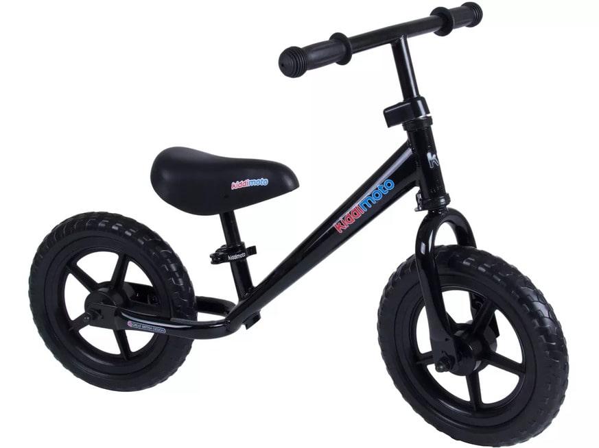 Kiddimoto Black Super Junior Balance Bike