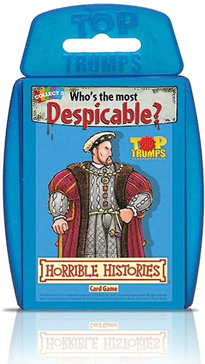 Top Trumps Horrible Histories Card Game.