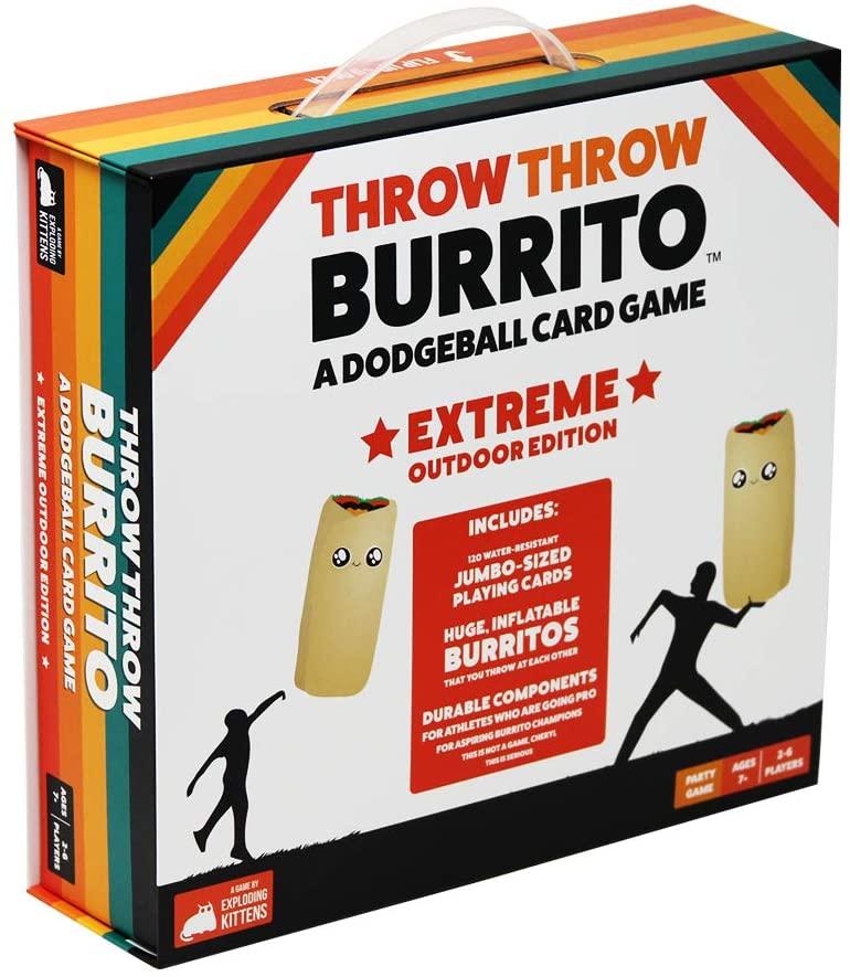 Throw Throw Burrito Extreme Outdoor Edition.