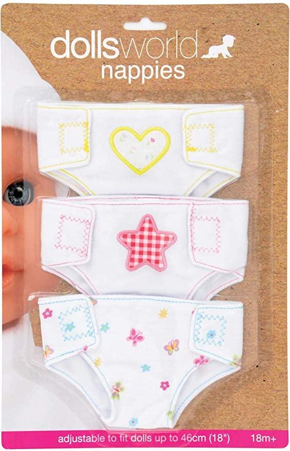 Dolls World Fabric Nappies - Amazon