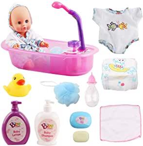 Bath Time Baby Doll Play Set - Amazon