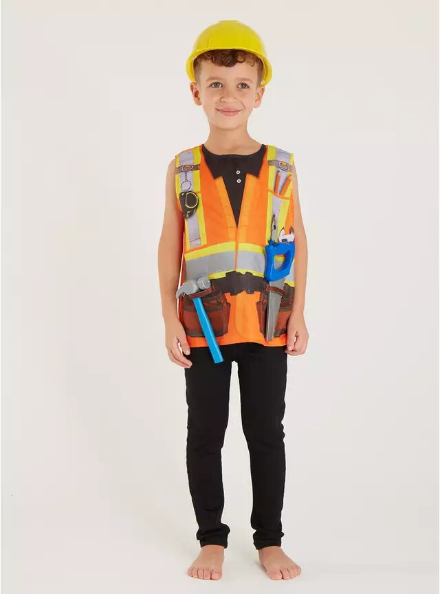 Tu Kids' Construction Worker Costume.