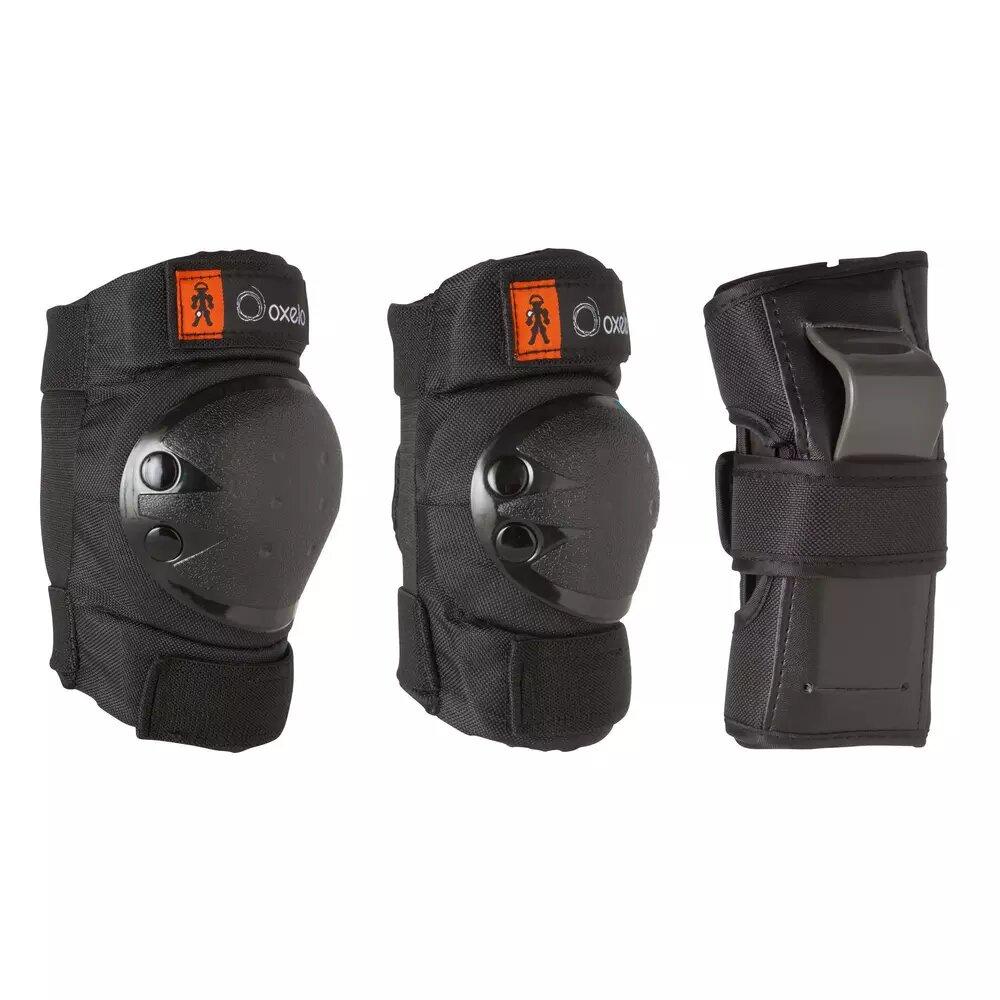 Oxelo Basic Children's 3-Piece Protective Gear Set.