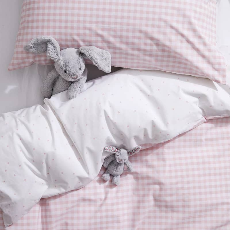 Reversible Gingham Bed Linen Set - The White Company