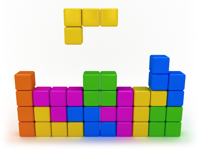 The seven Tetris blocks make up the game