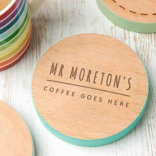 Personalised Wooden Coaster With Name, Dust And Things.