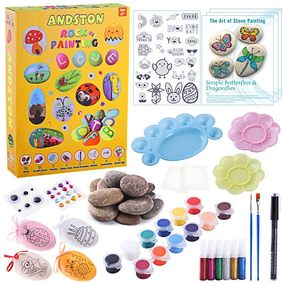 ANDSTON Rock Painting For Kids