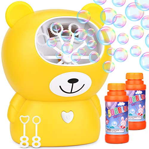 Dkinghome Automatic Bubble Machine Blower Maker Bath Toy.