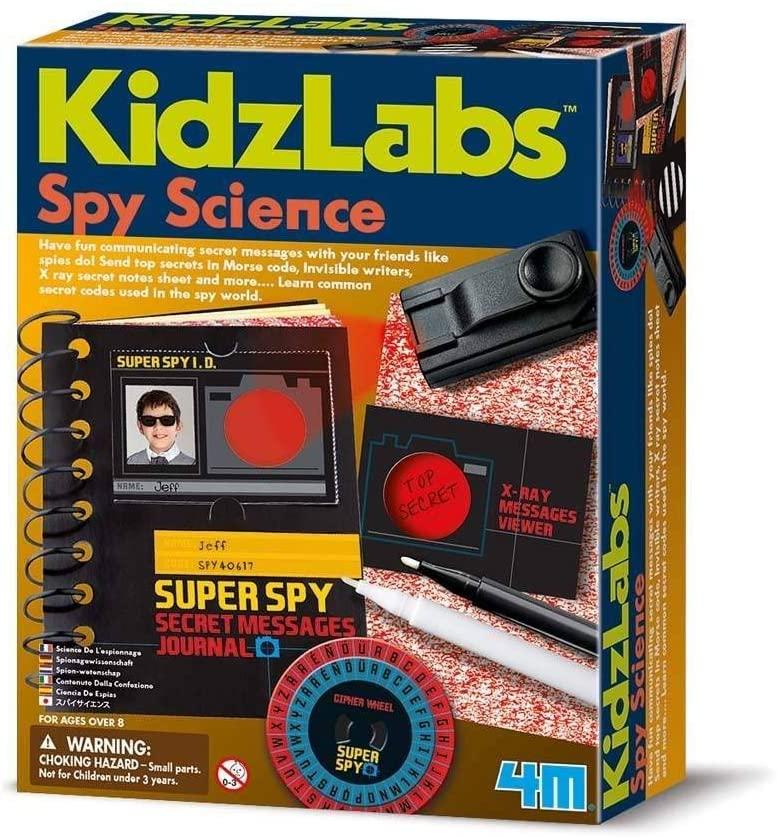 4M Spy Science Secret Message Kit.