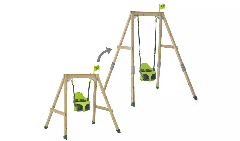 TP Forest Wooden 4 in 1 Toddler and Kids Garden Swing - Argos