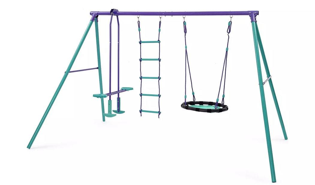 Plum Kids Garden Nest, Glider and Rope Ladder Swing Set - Argos
