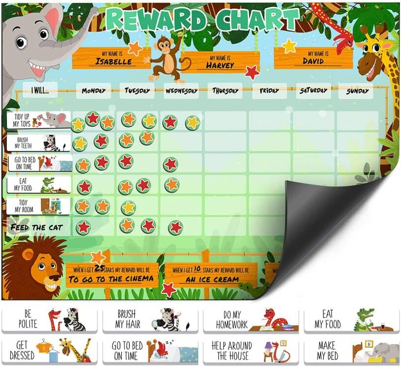Luigi's Safari Animal Magnetic Reward Chart