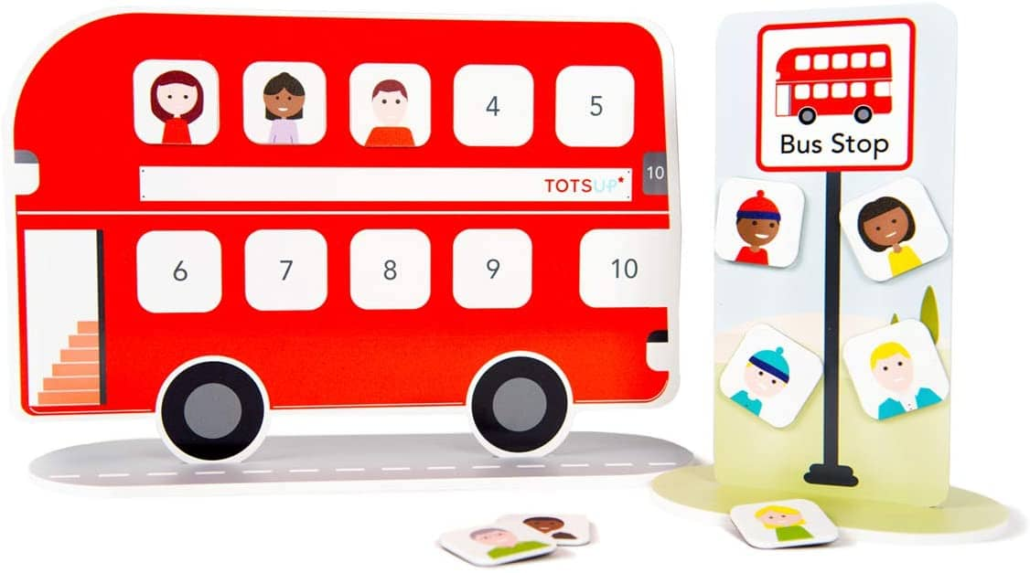 TotsUp Magnetic Big Red Bus Reward Chart for Children