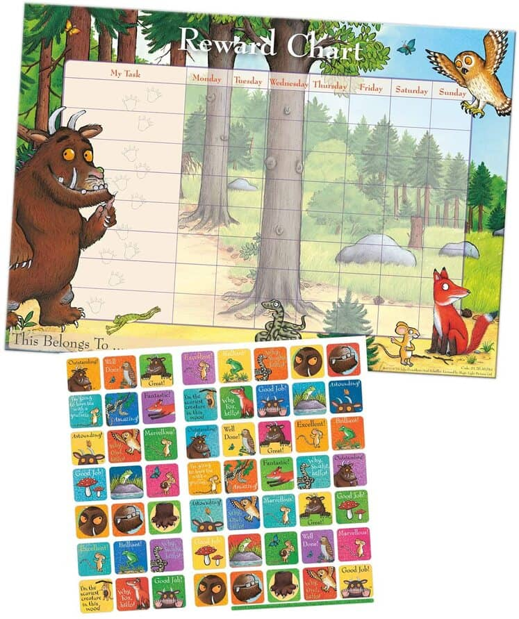 Paper Projects 'The Gruffalo' Reward Chart With Reusable Stickers