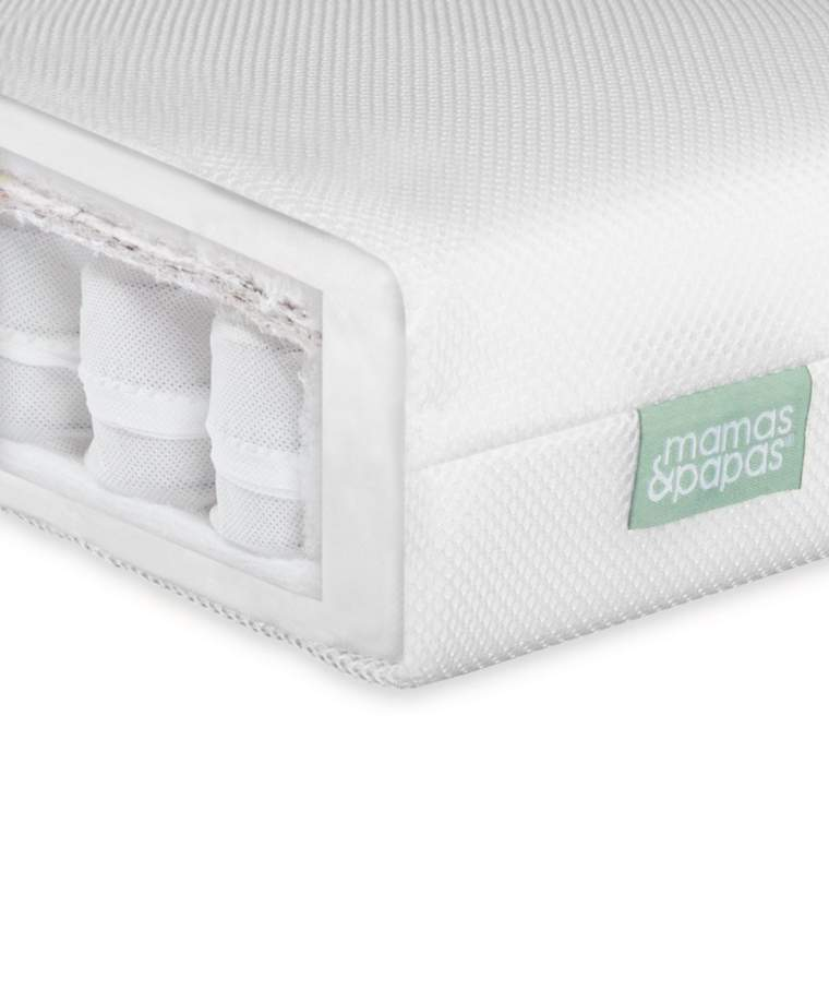 Premium Pocket Spring Cot Mattress - Mamas and Papas.