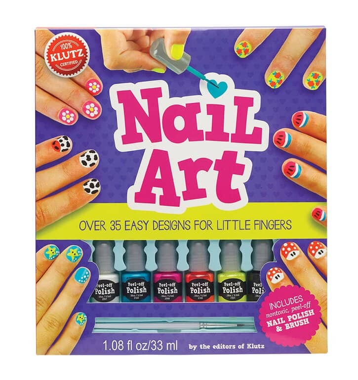 Nail Art Book & Polish Set