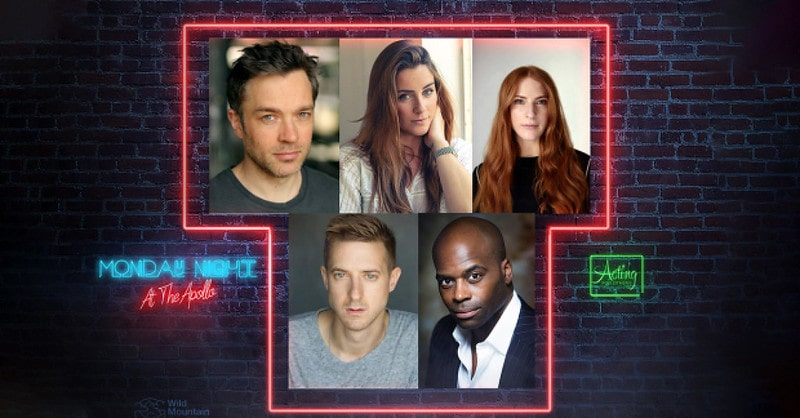 Head shots for West End actors in the upcoming Monday Nights at the Apollo show.