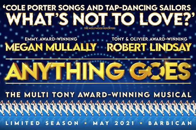 The promotional poster for the show Anything Goes.