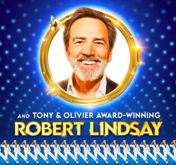 Robert Lindsay in the promotional poster of the show Anything Goes.