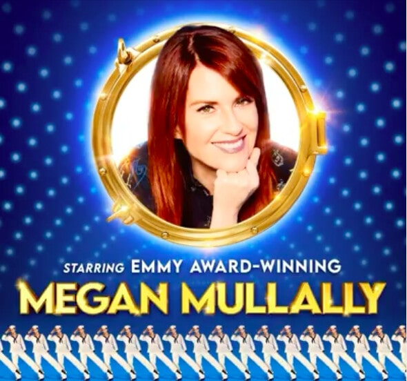 Megan Mullally in the promotional poster of the show Anything Goes.