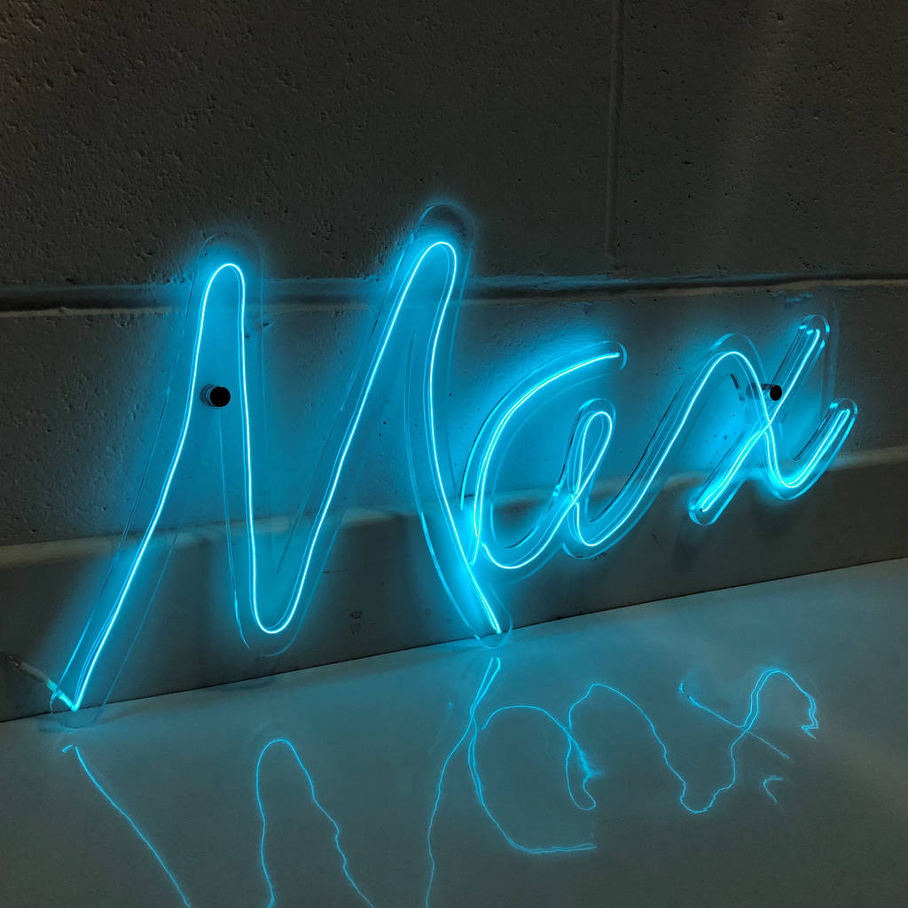 Personalised Neon Any Name Sign -Not On The Highstreet.