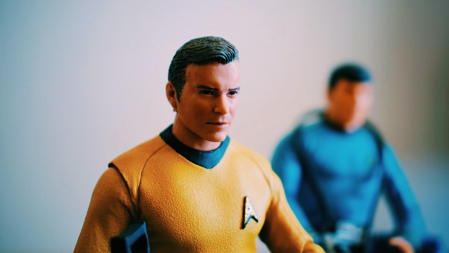 Star Trek figurines inspiring baby Vulcan names.
