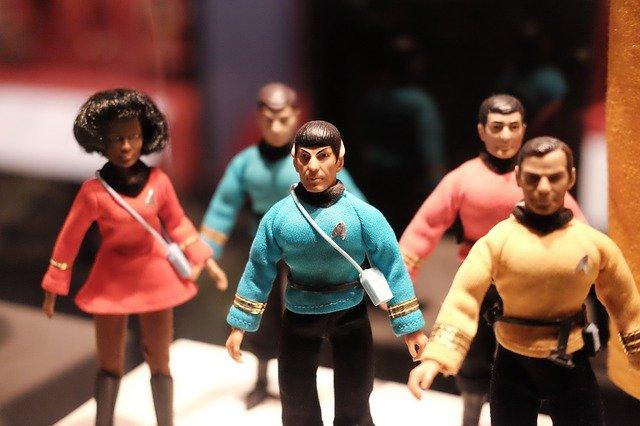 Group of Star trek figurines inspiring names.