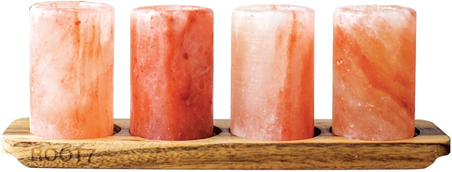 Himalayan Salt Shot Glasses Set of 4.